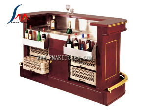 Bar Counter, Movable, with Castor Wheels, Can Be Customized pictures & photos
