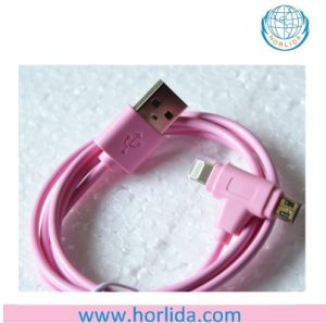 2-in-1 Lightning 8pin Connector Micro USB Charge/Sync Cable