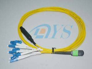 8 Fiber MPO to LC Optical Fiber Patch Cord pictures & photos