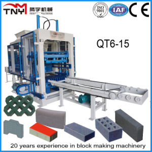 Automatic Qt6-15 Concrete Hollow Block, Solid Brick, Interlocking Paver Making Machine pictures & photos