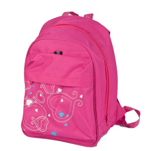 Pink School Bag with Flower