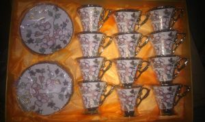 24PCS 80CC Coffee Cup and Saucer