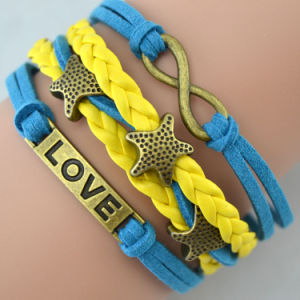Fashion Jewelry, Multiple Bohemia Leather Bracelet, 6686