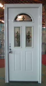 Exterior Steel Door with Glass Design
