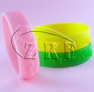 Embossed Bracelet Silicone (SB-023) pictures & photos