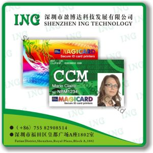 PVC RFID Smart Chip Contact / Contactless IC Card
