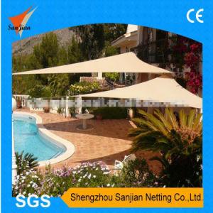 3X3X3m 100% New HDPE Fabric Sun Shade Sail for Sandbeach Leisure (Manufacturer/Factory)