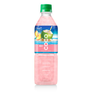 500ml Pet Bottle Peach Flavor Coconut Water pictures & photos