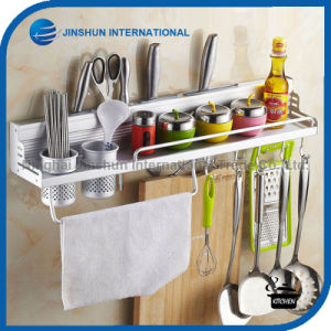 Aluminum Kitchen Wall Knife Spice Rack with Hook pictures & photos