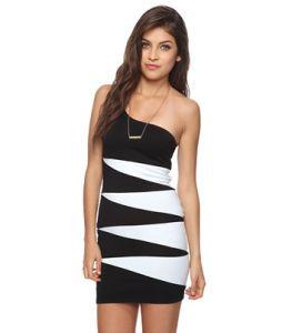 Ladies Women′s Colorblocked Contrast Dress