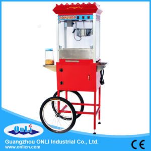 8 Oz Automatic Old Fashioned Electric Commercial Kettle Caramel Mobile Popcorn Machine Cart for Sale Price pictures & photos