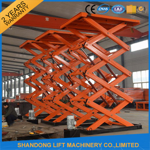 2t 7m Hydraulic Scissor Lifting Equipment Lifting Table with Ce pictures & photos