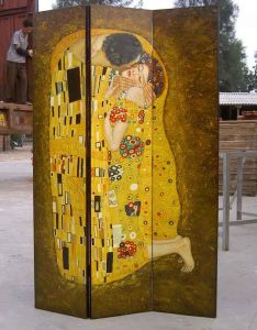 100719 Reproduction Oil Painting on Furniture (Kiss Klimt)