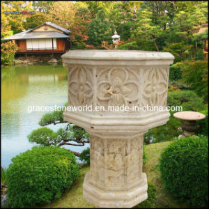 Stone Carved Planter, Marble Flower Pot (GS-FL-010) pictures & photos