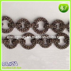 Hotselling Black Diamond Rhinestones Chain Itlia Style
