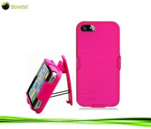 Armor Shell Case with Holster for iPhone 5 (Hot Pink)
