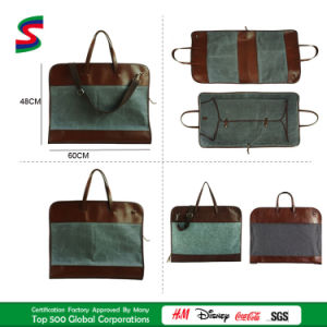Waxed Canvas/Felt Leather/PU Leather Suitcover Suit Garment Handbags