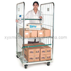 Medical Movable Steel Foldable Storage Roll Pallets with Wheels pictures & photos