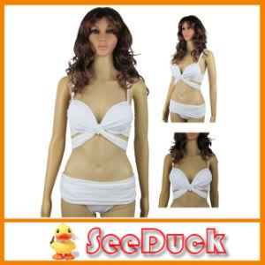 Sexy White Bandage Swimwear Push up Women Bikini (KS610401)