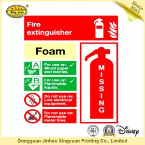 Fire Extinguisher Sensitive Adhesive Sticker