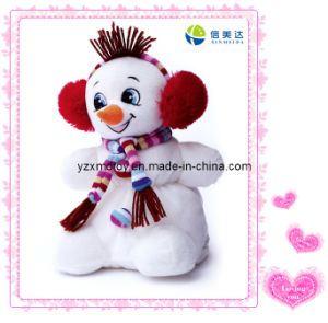 Plush X-Mas Snowman Toy with Scarf pictures & photos
