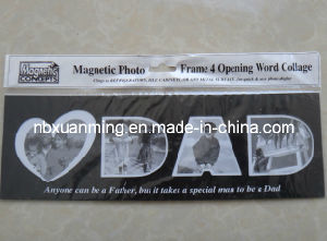 4 Opening Word Collage Dad Magnetic Photo Frame