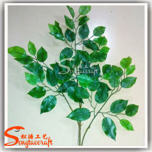 Artificial Hand Soft Plastic Ficus Leaves pictures & photos