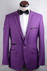 2016 Purple Handmade High Quality Suit