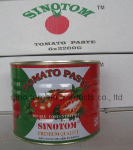 100% Pure China Origin 28-30%Brix 2200g Canned Tomato Paste