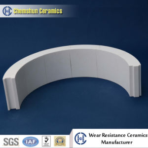 Wear Resistant Ceramic Lined Elbow Pipe Tile for Dust Removal System (Size: 150*100/95.63*50 mm) pictures & photos
