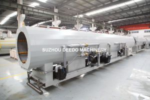 PE Soild Pipe Extrusion Line for Water and Gas Supply (315mm-630mm) pictures & photos