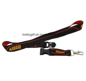 Woven Printed Polyester Lanyard with Safe Buckle pictures & photos