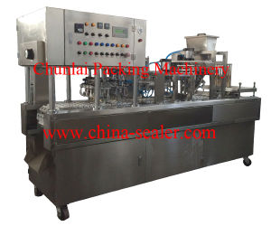 Automatic Plastic Cup Fill Sealing Machine pictures & photos
