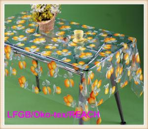 Vinyl PVC Printed Transparent Tablecloth Fruit Designs pictures & photos