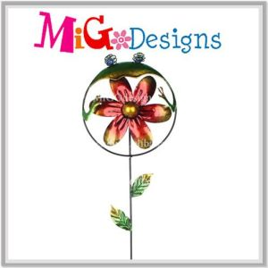 Creatived Garden Butterfly Metal Stake with Wind Spinner pictures & photos