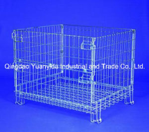 Hc3 Folding Stackable Mesh Pallet Containers for Warehouse Steel Cages Stillages pictures & photos