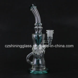 11 Inches Colorful Design Glass Smoking Water Pipe with Swiss Body pictures & photos