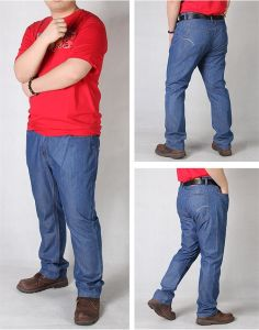 P1155 Summer Thin Plus Size 38-50 Men Long Loose Jeans pictures & photos