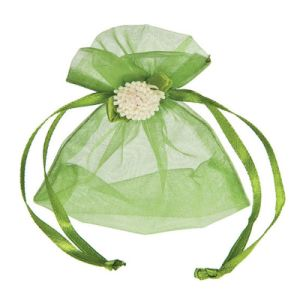 Wholesale Green Gift Packaging Tulle Bag with Drawstring (COB-1146) pictures & photos