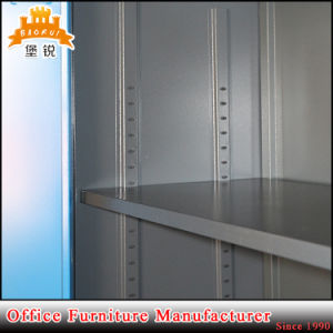 2 Iron Twin Swing Doors Goods Display Bookcase Libary Steel Cupboard with 4 Shelves pictures & photos