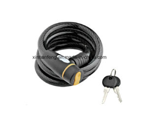 Good Price Bicycle Spiral Cable Lock with Bracket Included (HLK-018) pictures & photos