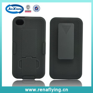 Wholesale Practical I Pattern Holster Combo Phone Case for iPhone4 pictures & photos