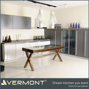 Modern White High Gloss Lacquer Kitchen Cabinet