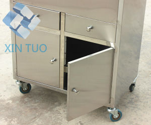Hospital Housekeeping Trolley, Dirt Cart in Stainless Steel for Nursing pictures & photos