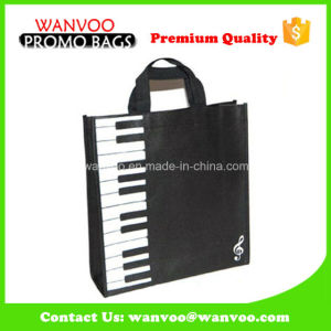 80GSM Nonwoven Black Shopping Bag Accept Customized pictures & photos