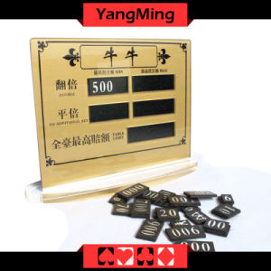 Stud Poker Table Limit (YM-LC06) pictures & photos