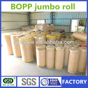 Excellent Performance Weijie OPP Adhesive Packing Tape Jumbo Roll pictures & photos