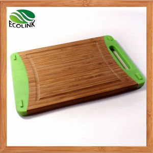 Bamboo Silicone Cutting Board Waterproof pictures & photos