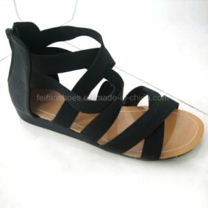 Hot Sale Fashion Ladies Shoes Casual Flat Sandal (OLY16314-34) pictures & photos