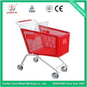 Top Quality Plastic Basket Shopping Trolley (JT-EP) pictures & photos